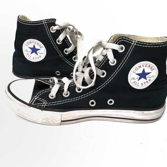 Converse Shoes | Black High Tops Youth